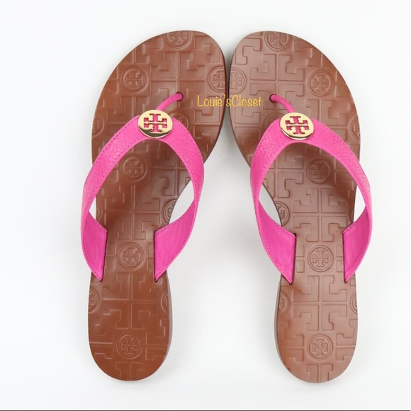 0a0858c5528c6 Tory Burch Thora Tumbled Leather Thong Sandals